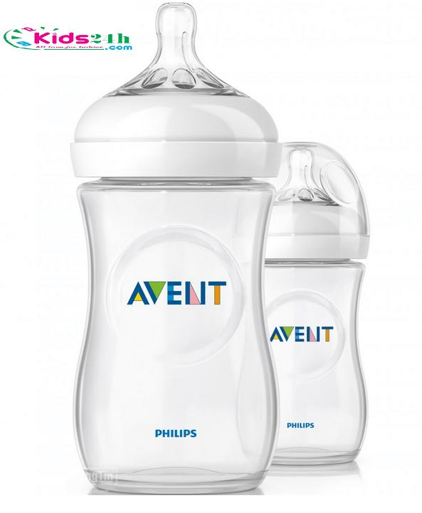 Set 2 bình sữa Phillips Avent 260ml natural