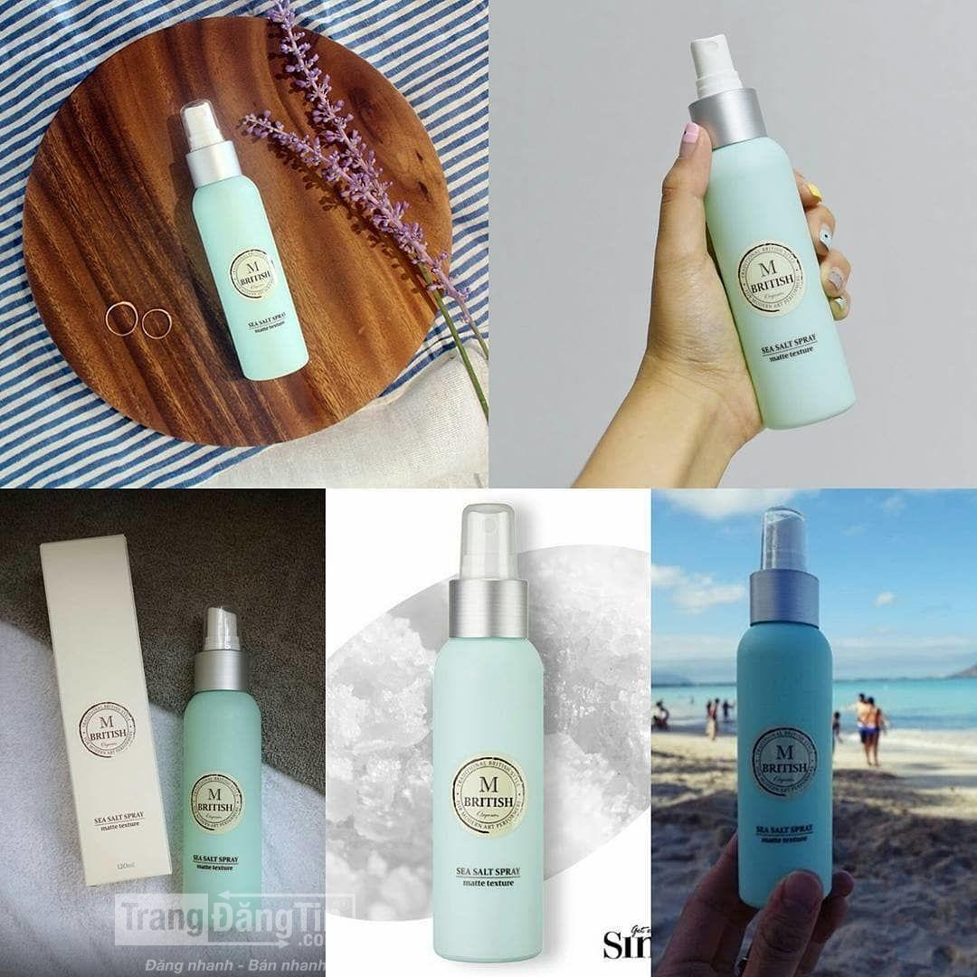 Xịt tạo kiểu pre-styling BRITISH M SEA SALT SPRAY