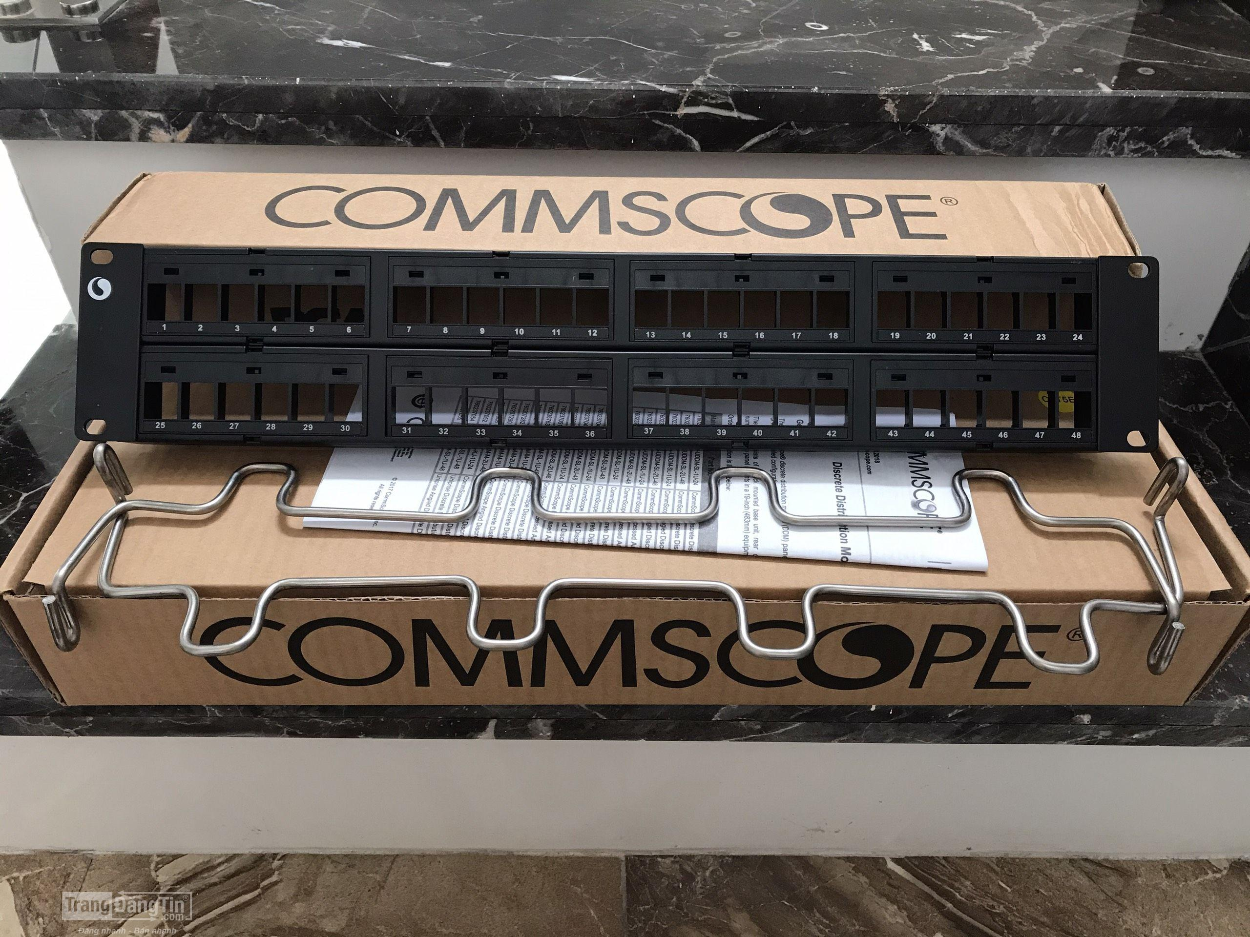 Thanh nối Patch panel COMMSCOPE 48 cổng Cat5/Cat6 gắn Rack