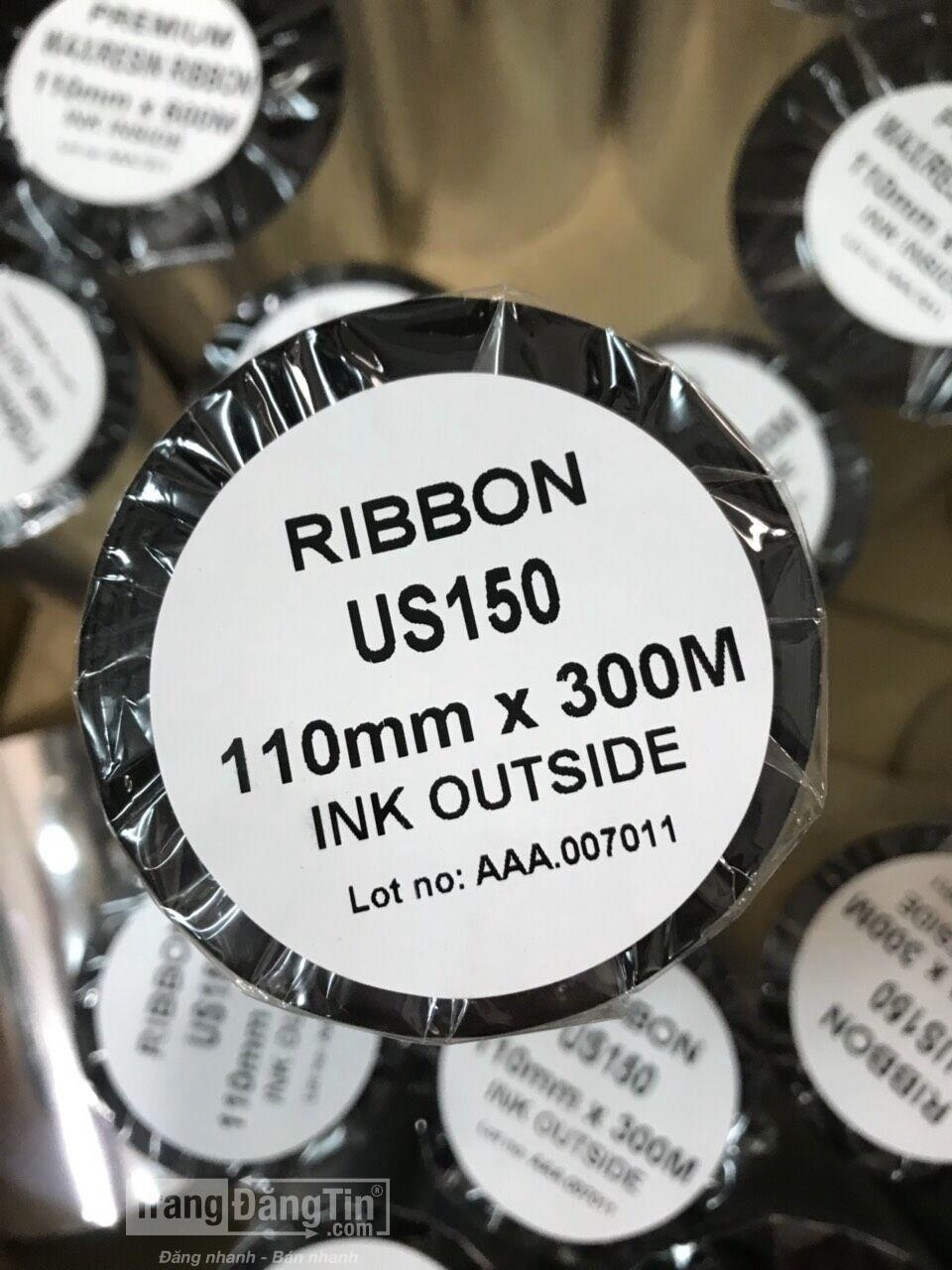 Ribbon Wax Resin in sắc nét trên decal giấy, decal PVC
