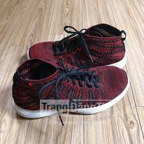 ZARA Man Red And Black Variegated