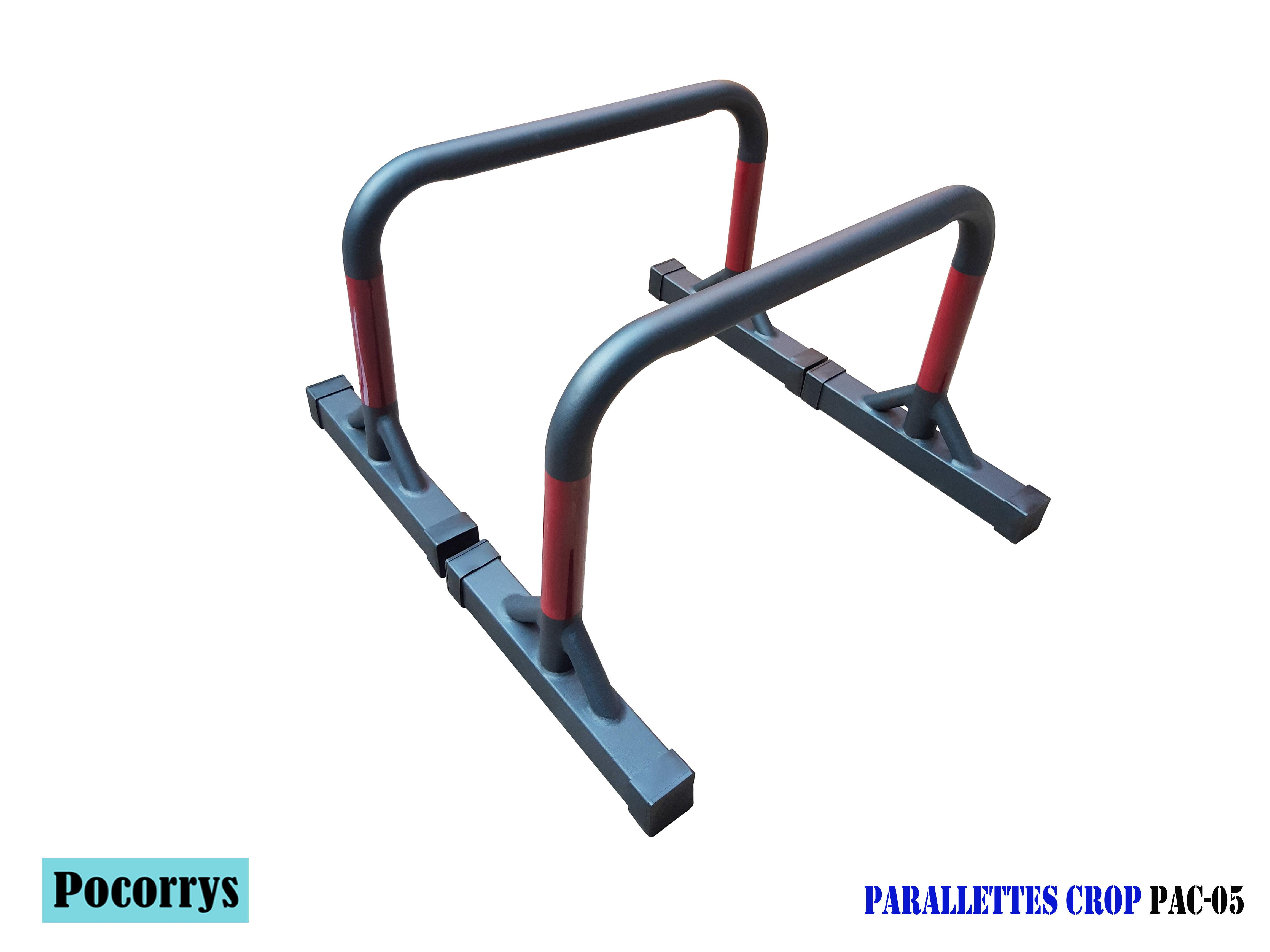 Parallettes Crop cao 45cm Xà kép mini Pocorrys PAC-05 (Street workout, Calisthenics, Gym)