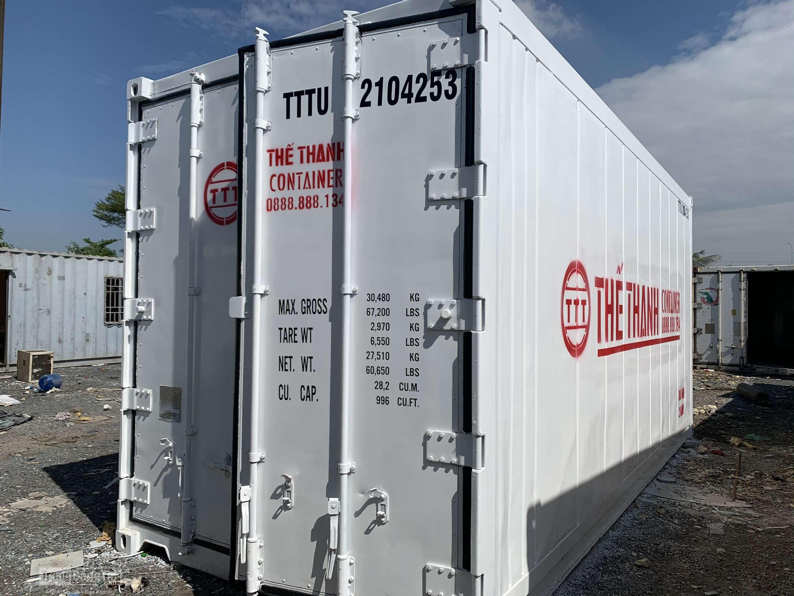 Container lạnh 20feet cao 2.9m Thế Thanh