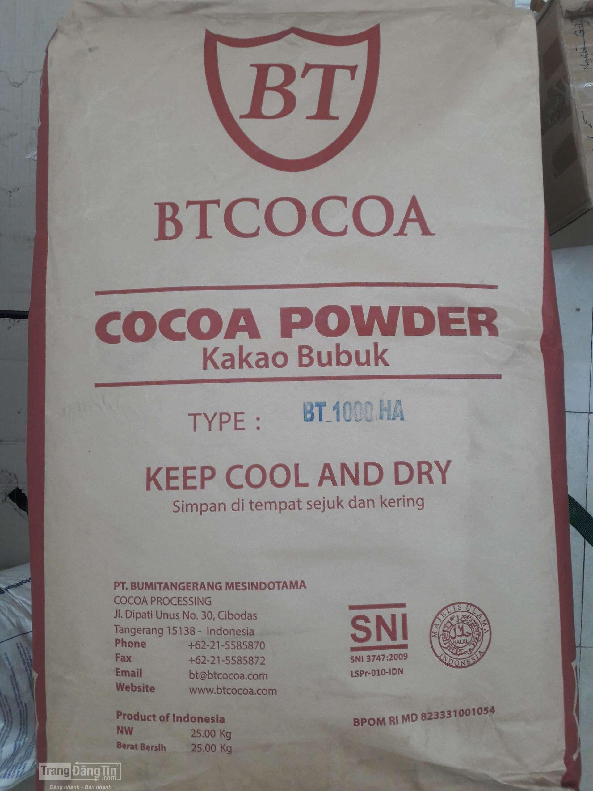 Bột Cacao BT1000HA Indonesia