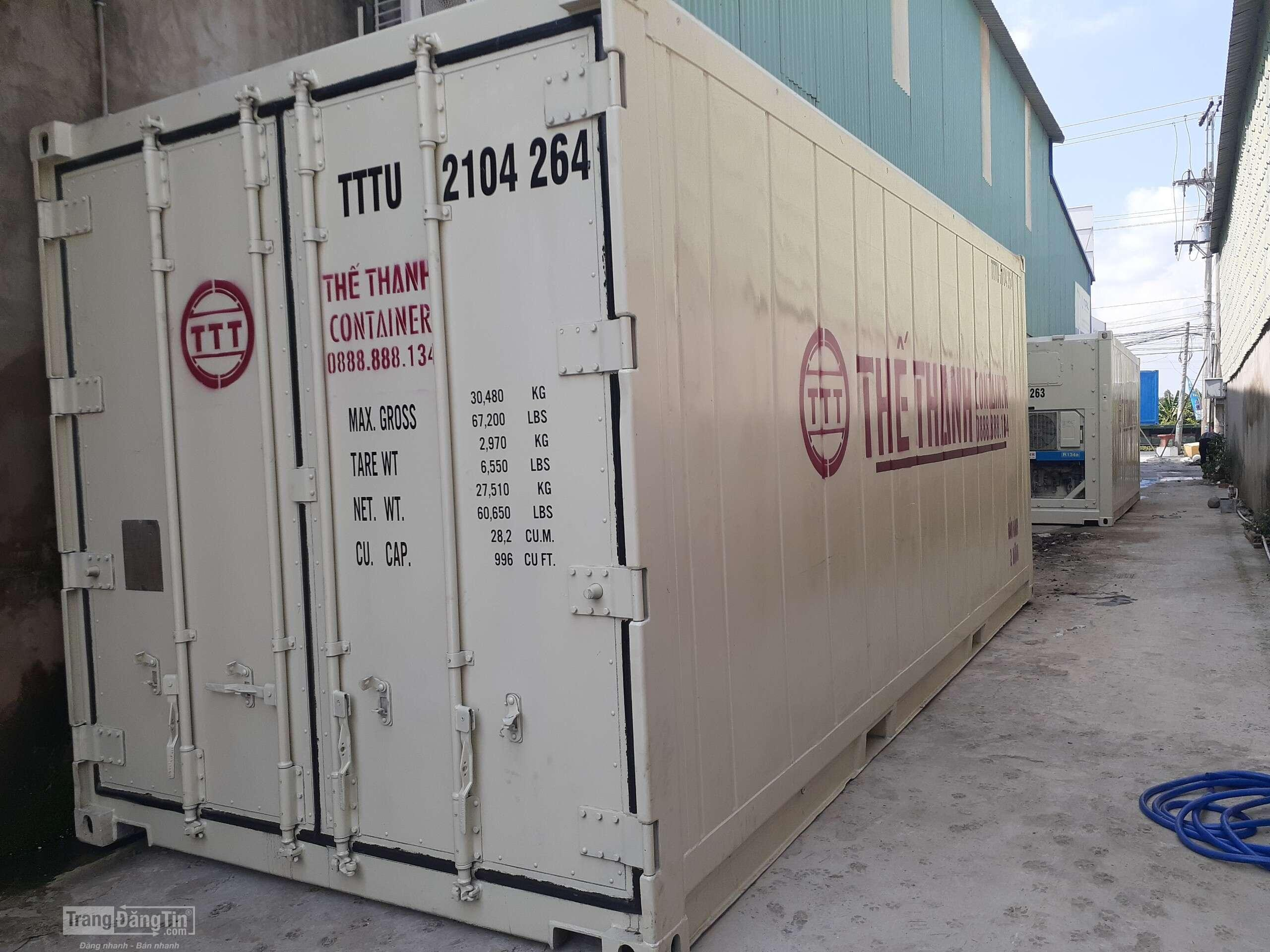 Container lạnh 20 feet chất lượng cao